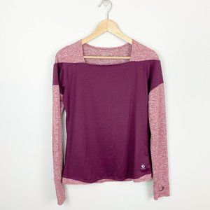 Oiselle Long Sleeve Burgundy Top (8)